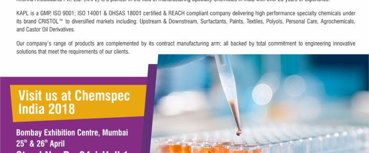 Chemspec India 2018 on 25th & 26th April